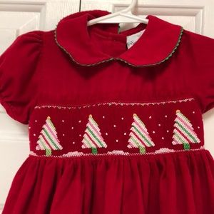Rare Editions Dresses - Rare Editions Smocked Christmas Tree Dress Sz 4T